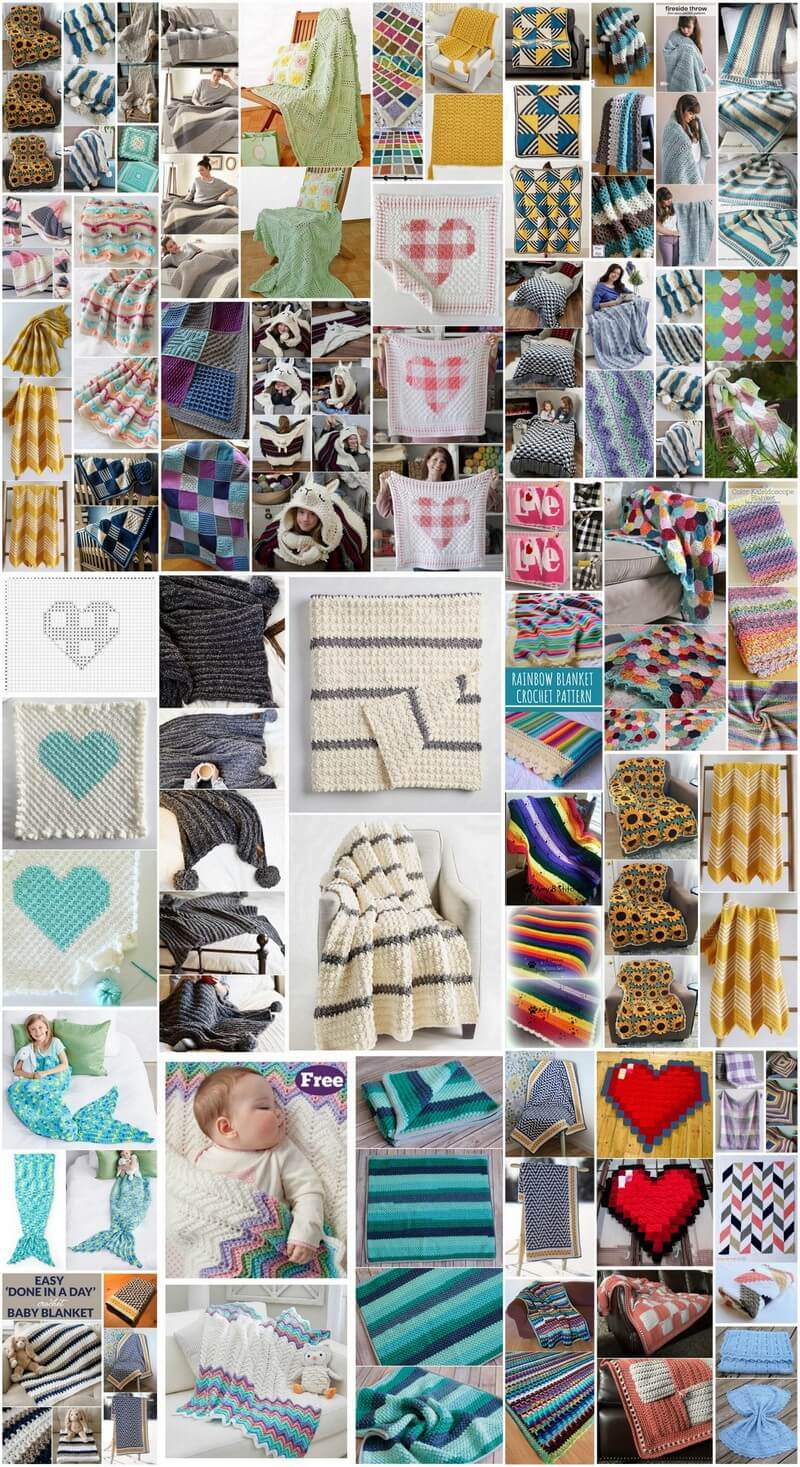 40+ Easy and Quick Crochet Blanket Patterns
