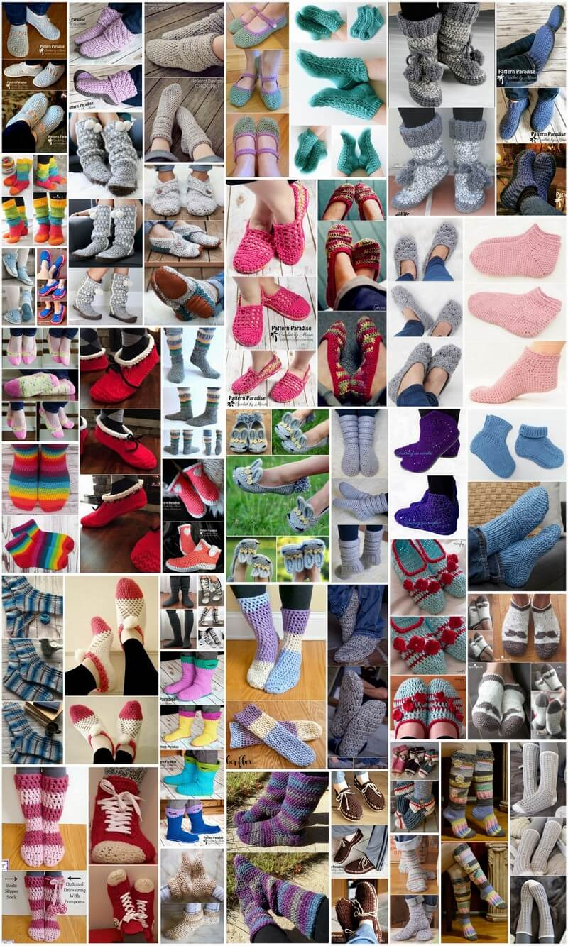 50 Cozy Crochet Sock and Slipper Patterns