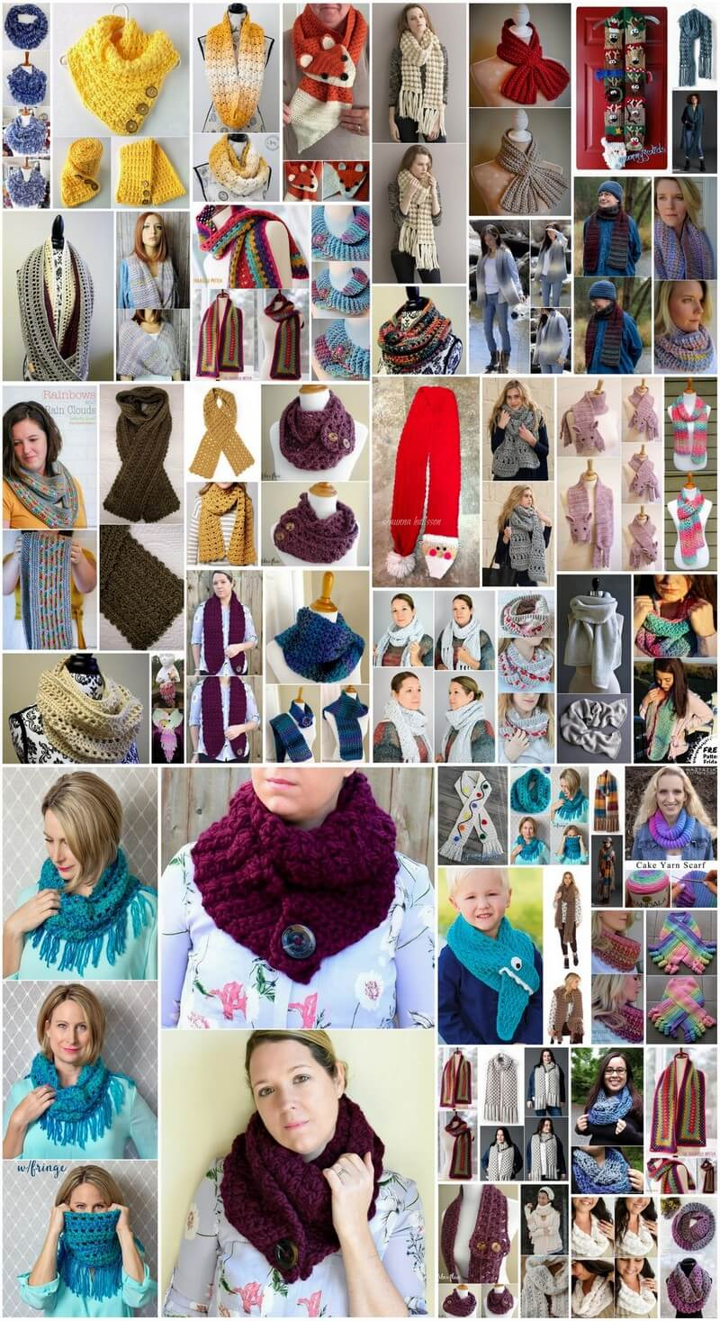 50+ Easy Crochet Scarf Patterns for Beginners