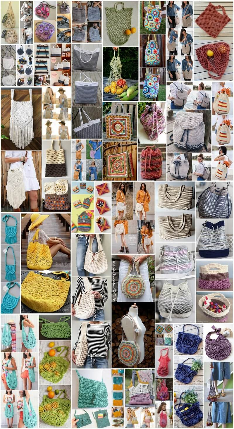 50 Free Crochet Bag Patterns for Beginners