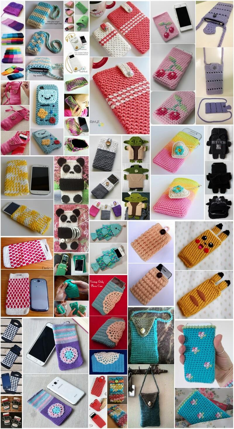 Adorable Crochet Mobile Cover Free Patterns