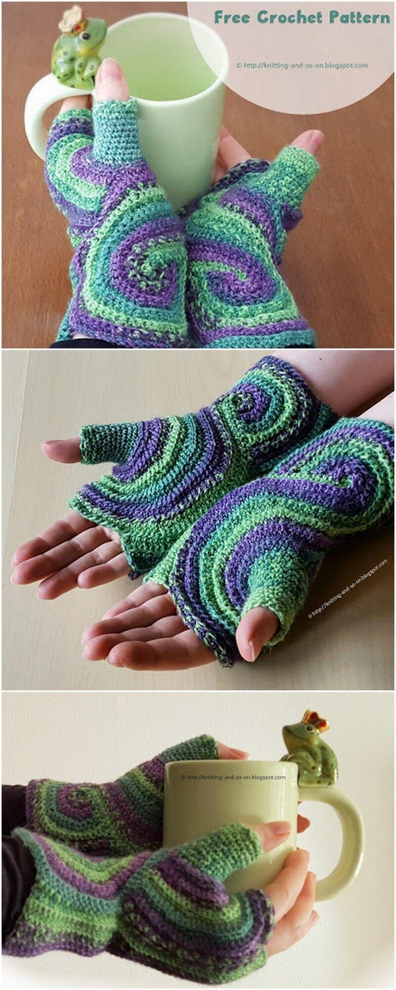 Crochet Gloves Pattern (12)