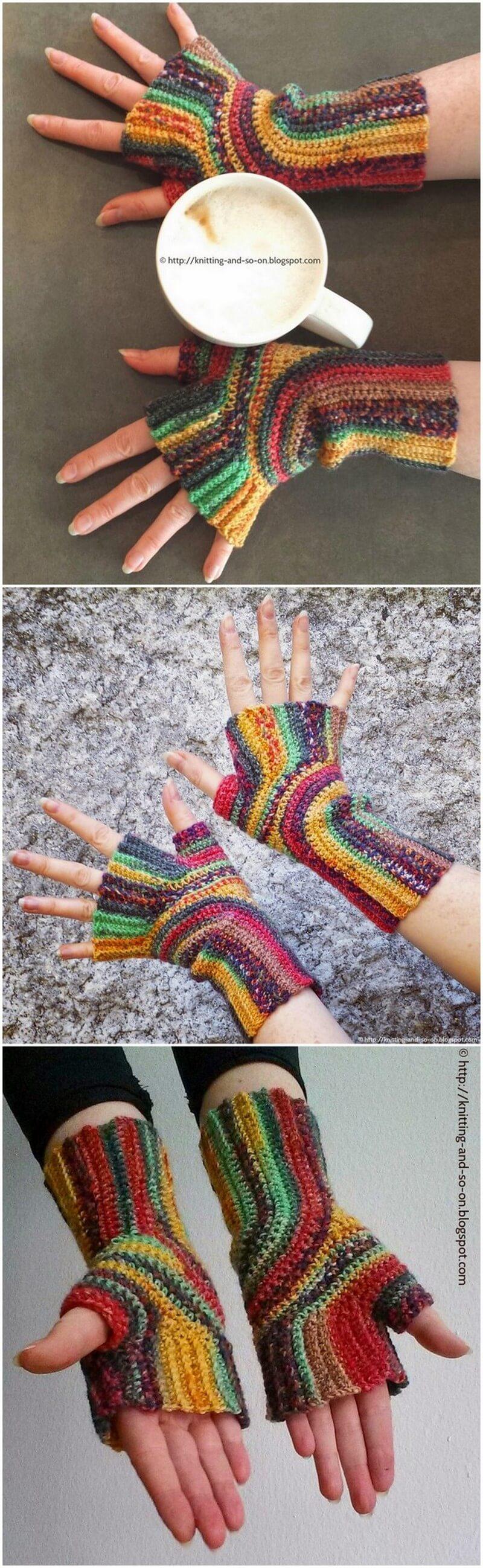 Crochet Gloves Pattern (38)