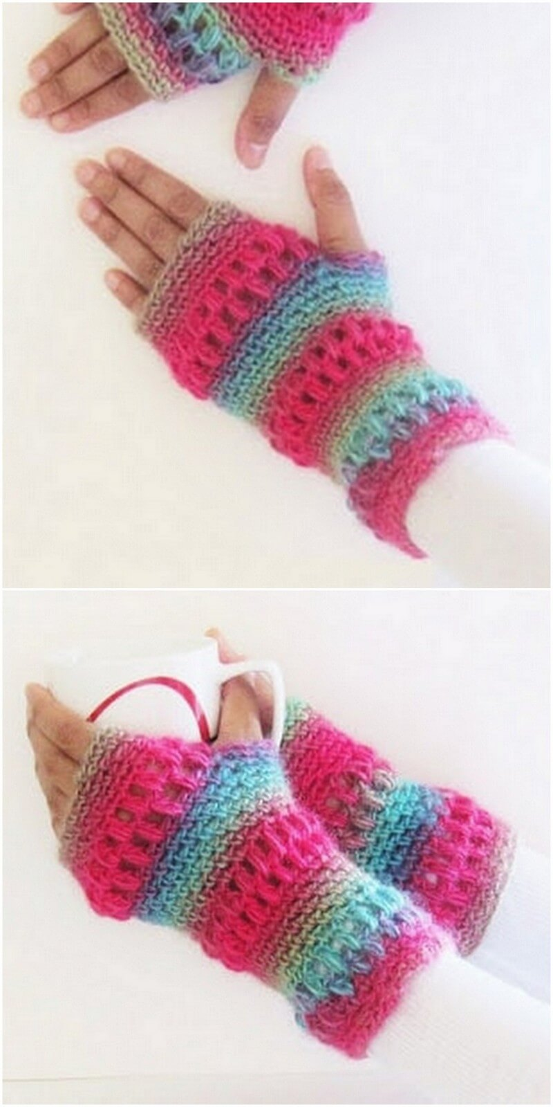 Crochet Gloves Pattern (4)