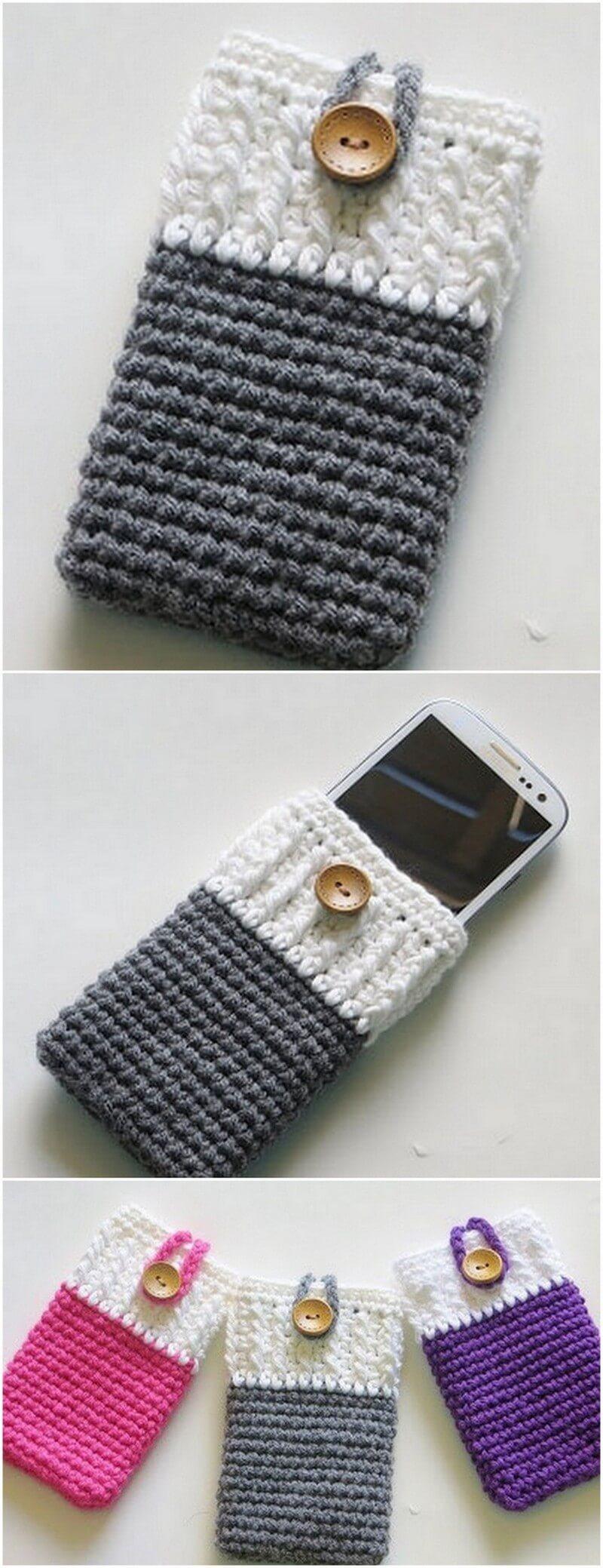 Crochet Mobile Cover Pattern (1)