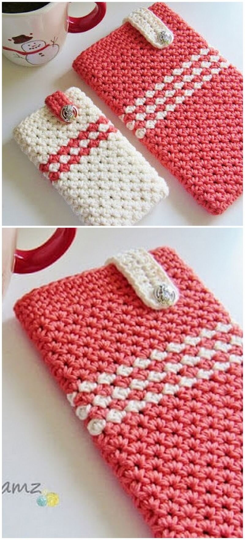 Crochet Mobile Cover Pattern (28)