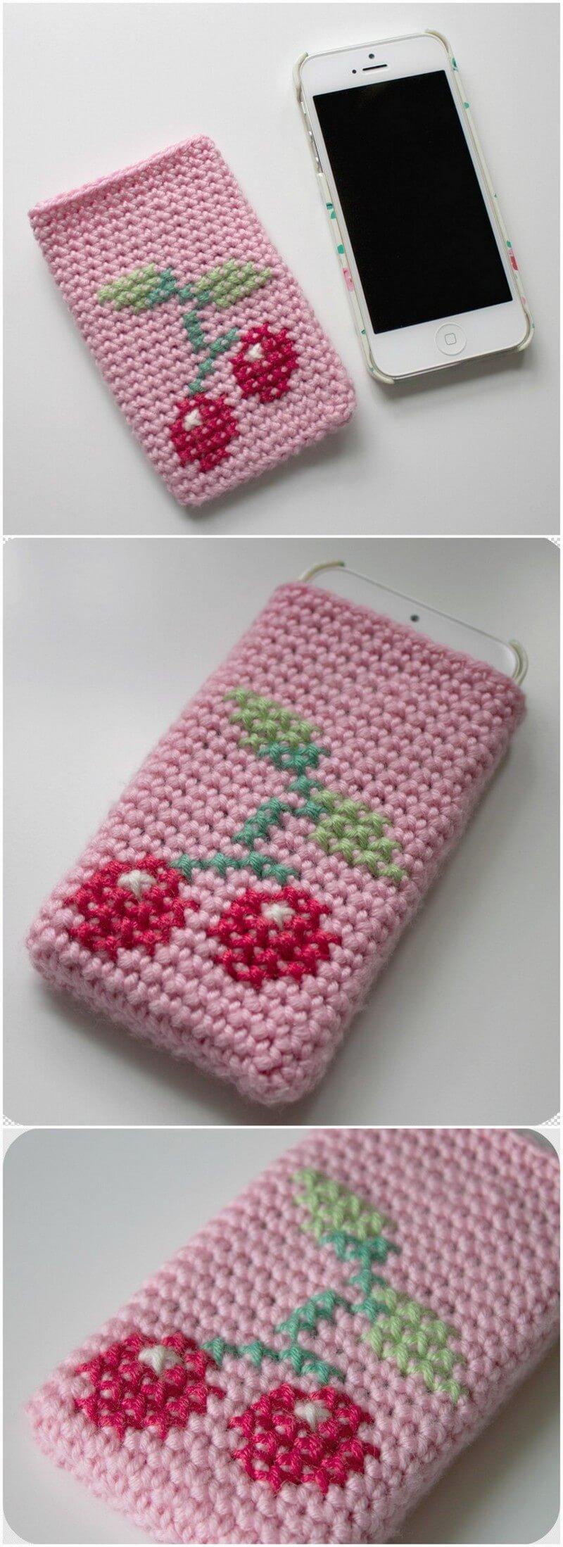 Crochet Mobile Cover Pattern (3)