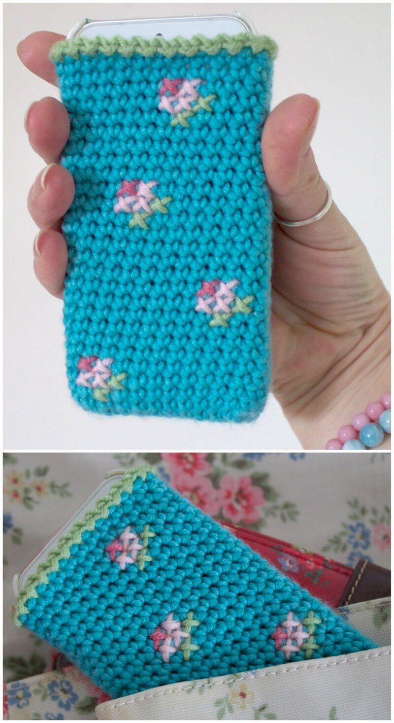 Crochet Mobile Cover Pattern (4)