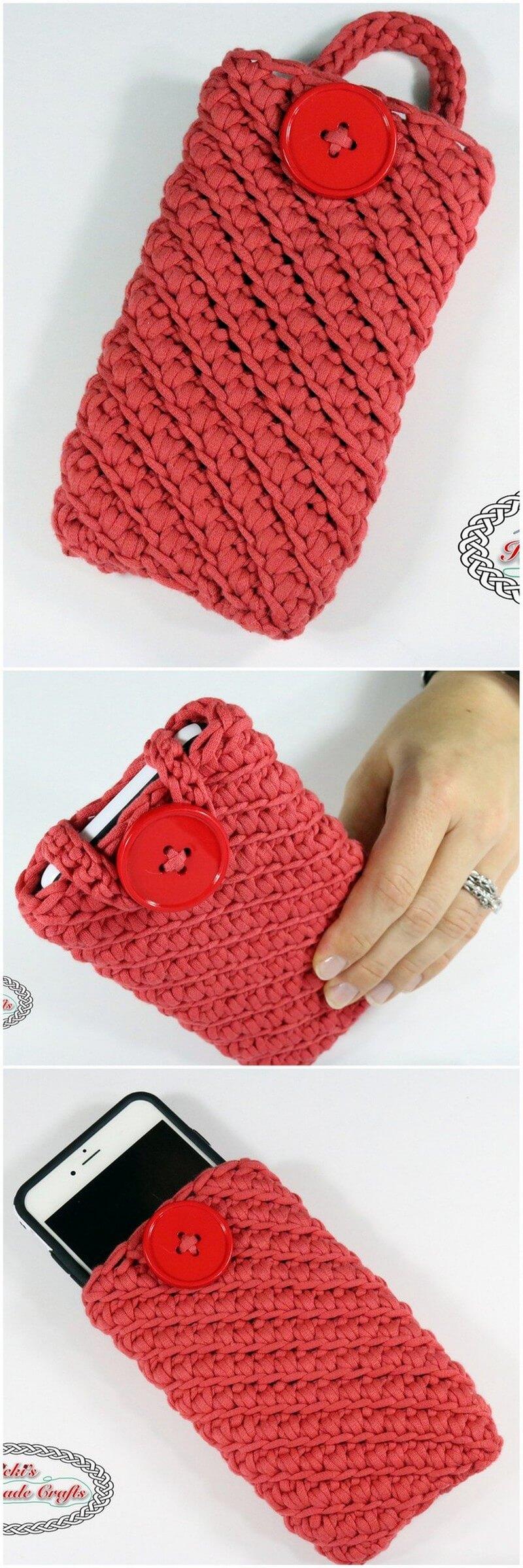 Crochet Mobile Cover Pattern (44)