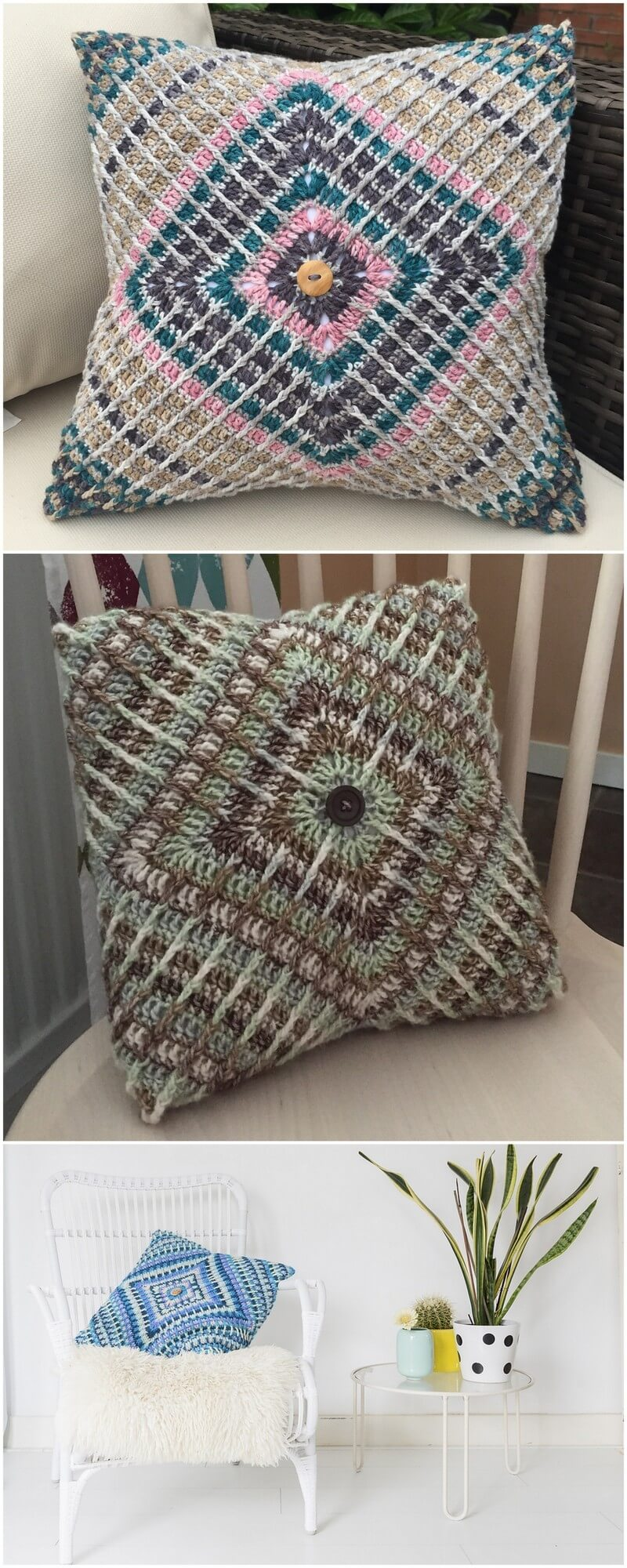 Crochet Pillow Pattern (50)