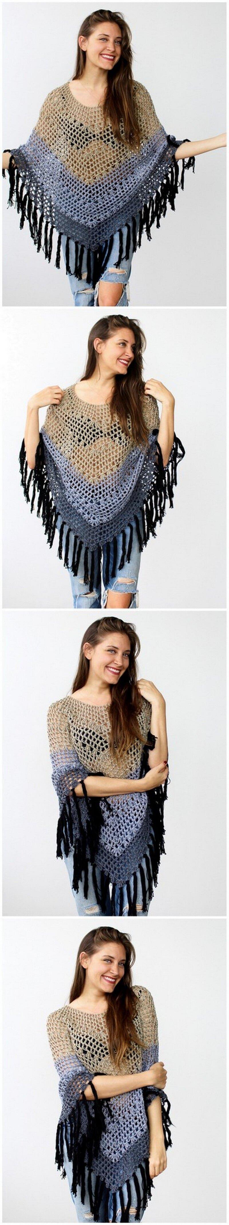 Crochet Poncho Pattern (3)