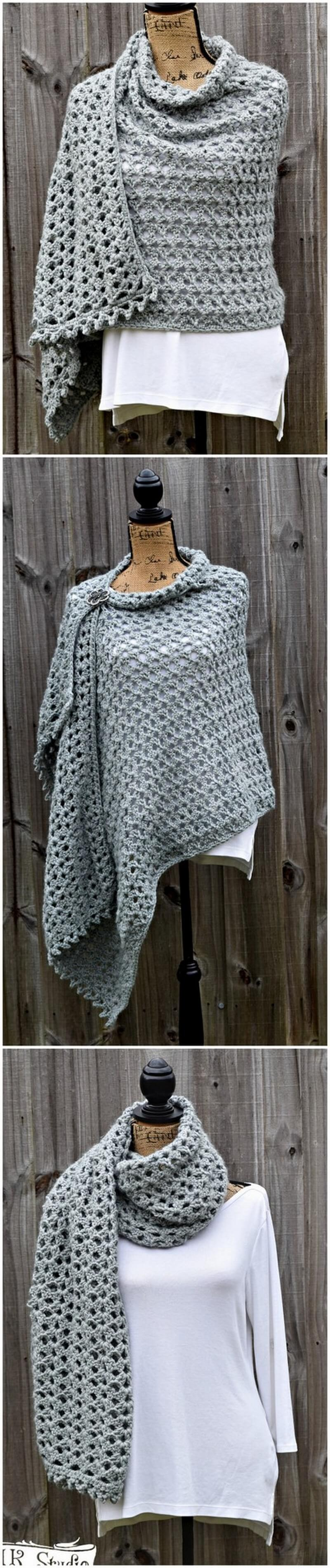 Crochet Shawl Pattern (8)