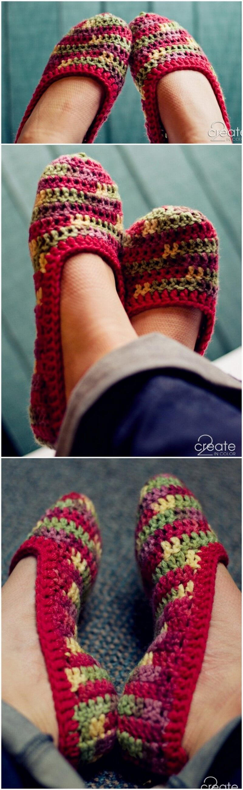 Crochet Slipper Pattern (10)