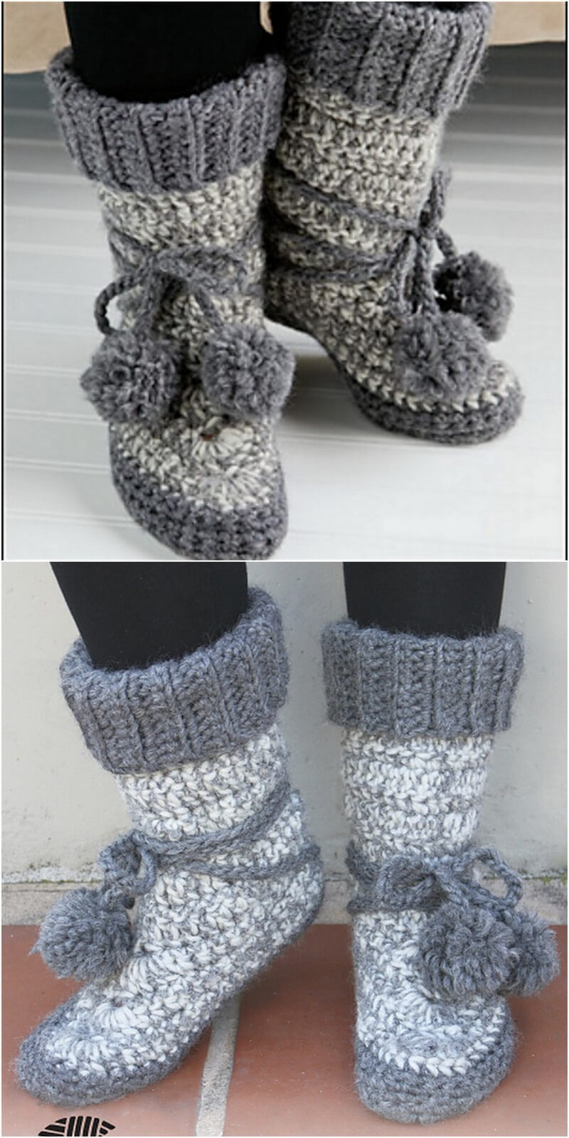 Crochet Slipper Pattern (11)