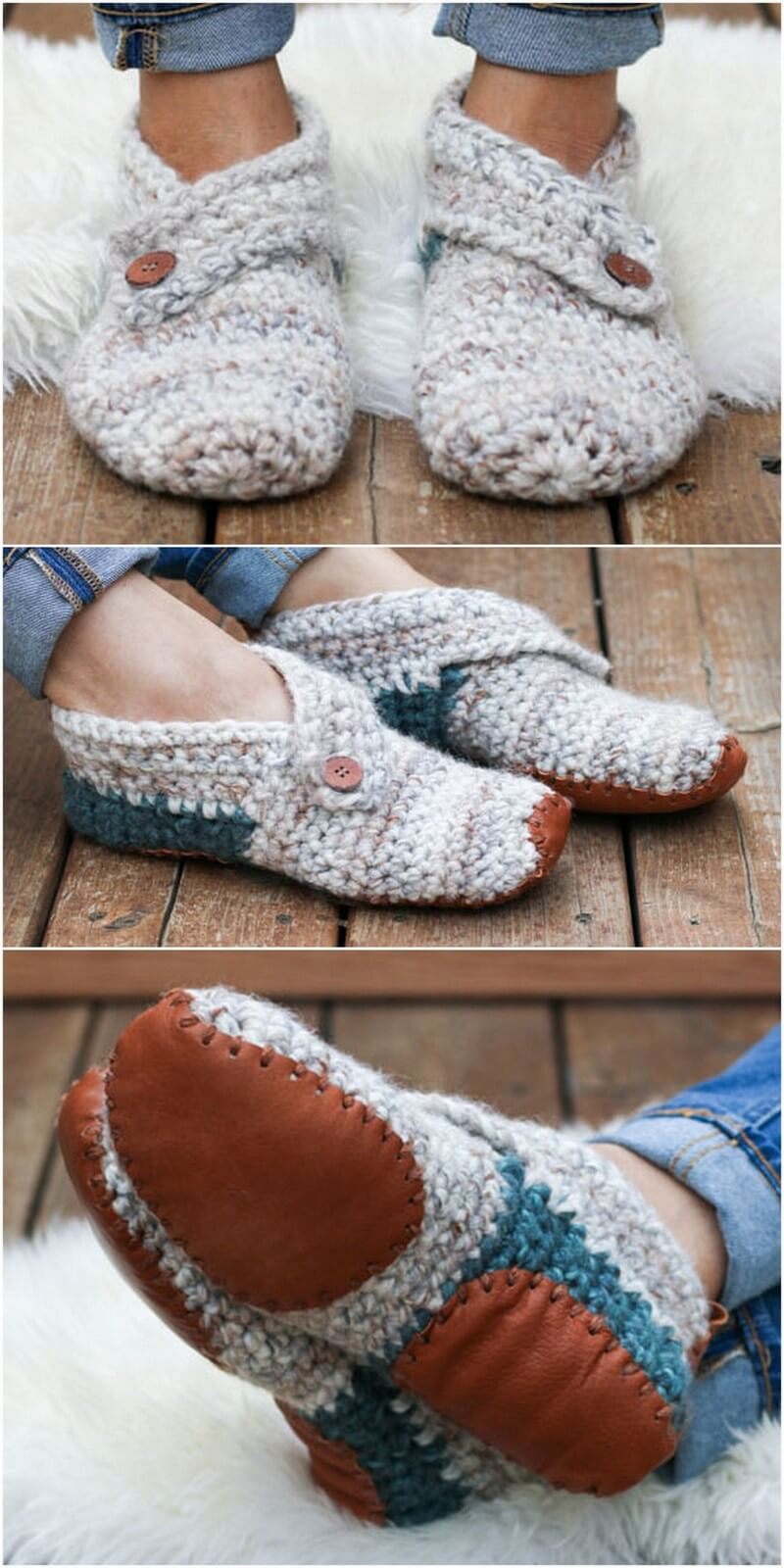 Crochet Slipper Pattern (16)