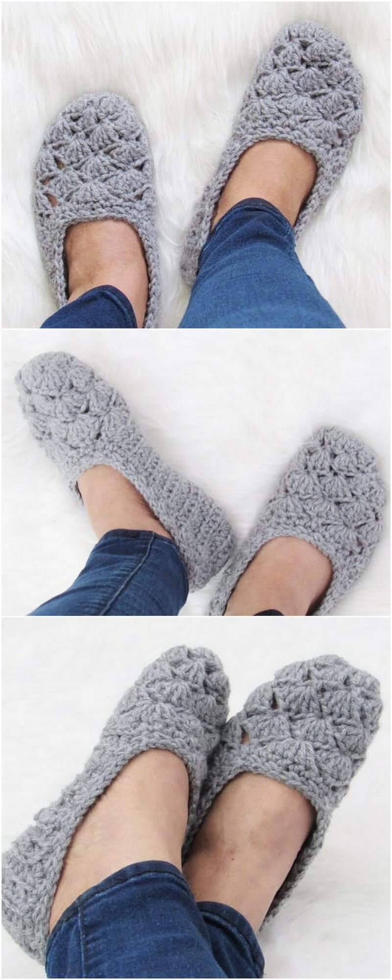 Crochet Slipper Pattern (17)