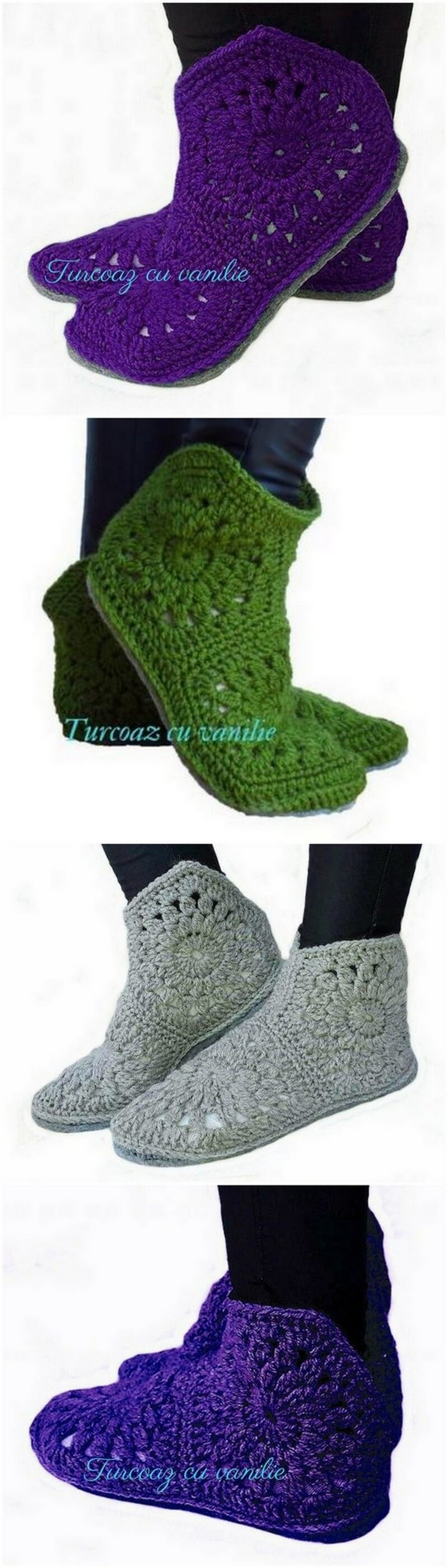 Crochet Slipper Pattern (19)