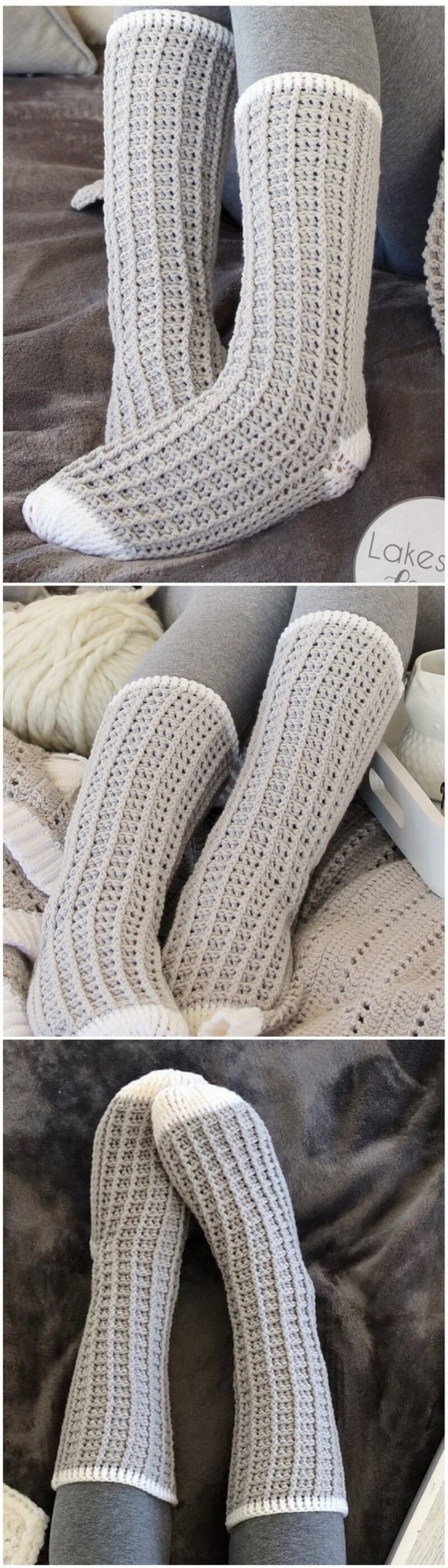 Crochet Slipper Pattern (2)