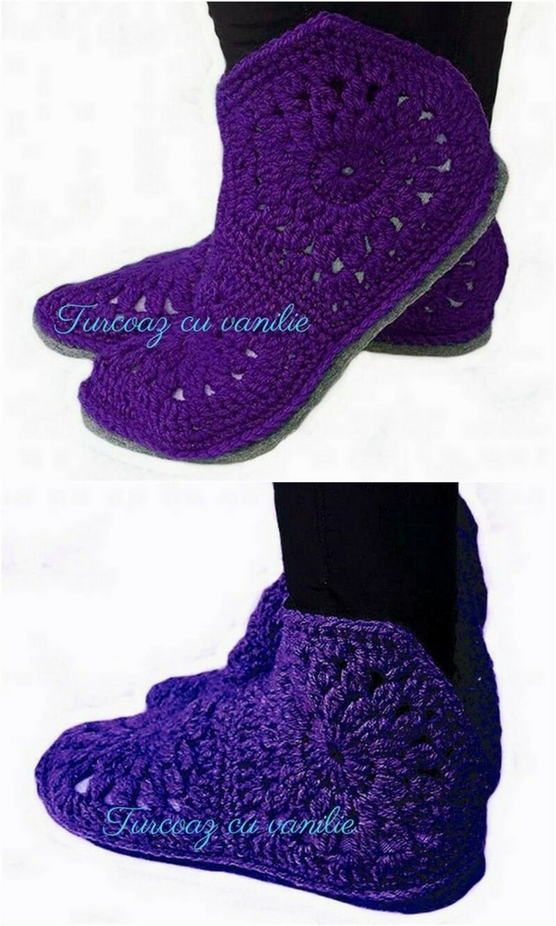 Crochet Slipper Pattern (20)