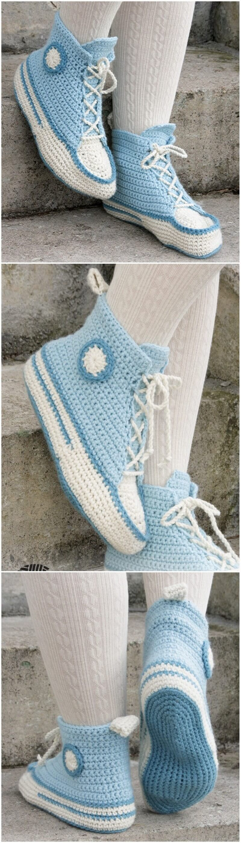 Crochet Slipper Pattern (21)