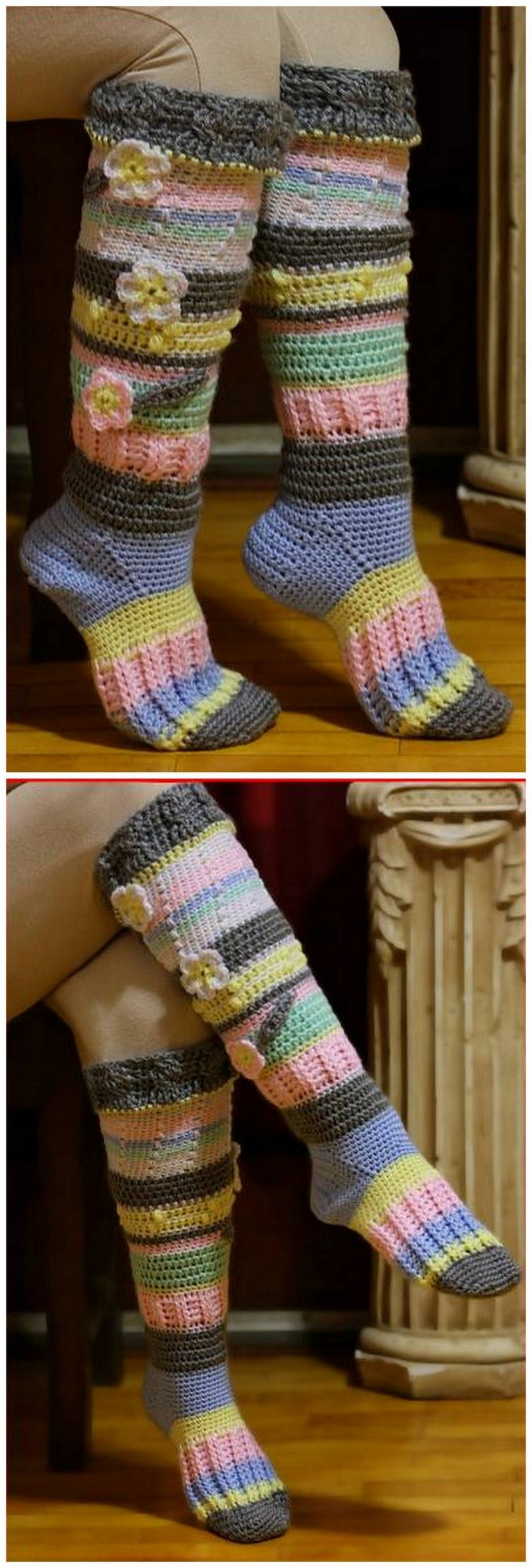 Crochet Slipper Pattern (25)