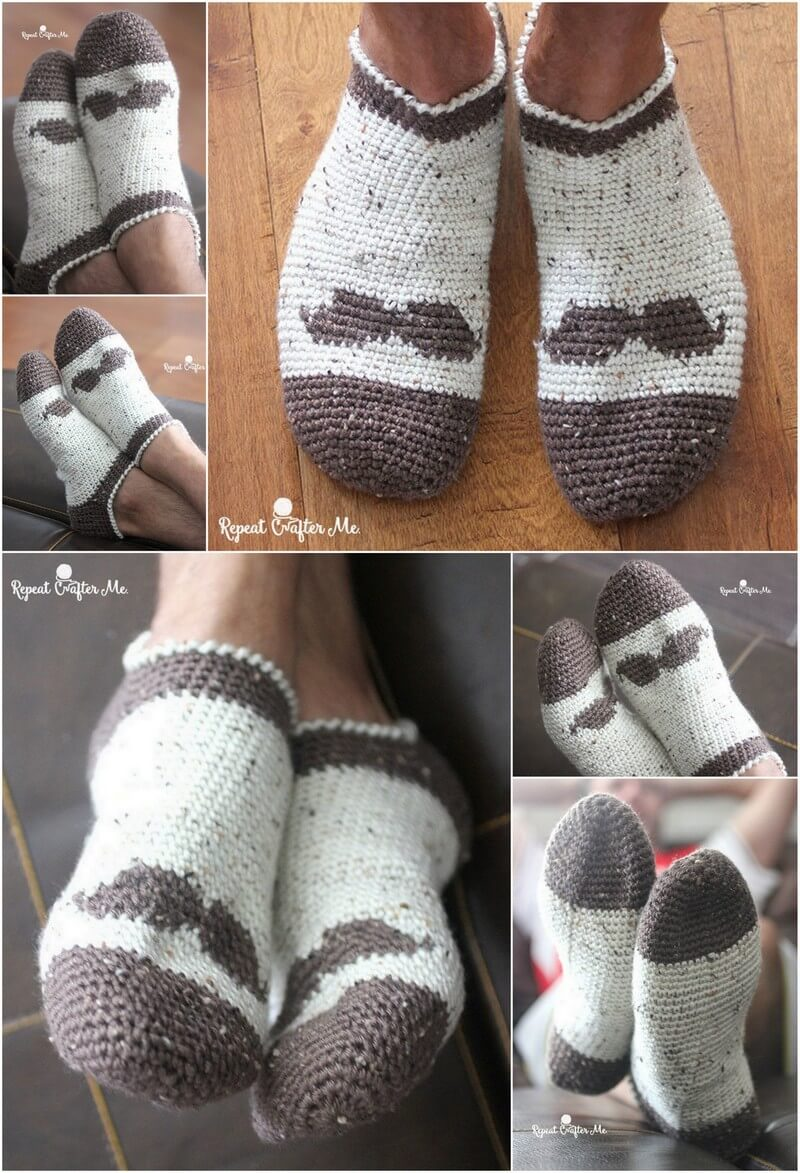 Crochet Slipper Pattern (28)