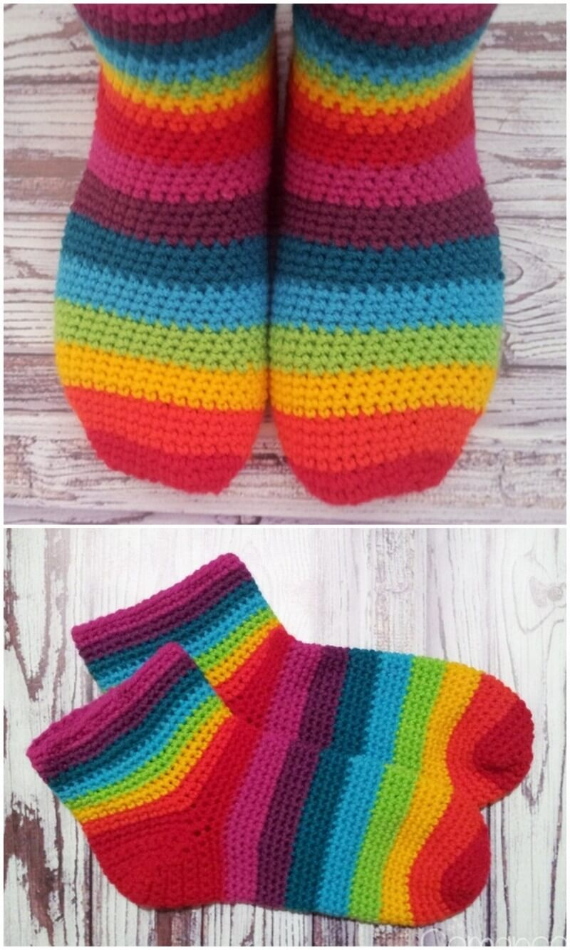 Crochet Slipper Pattern (32)