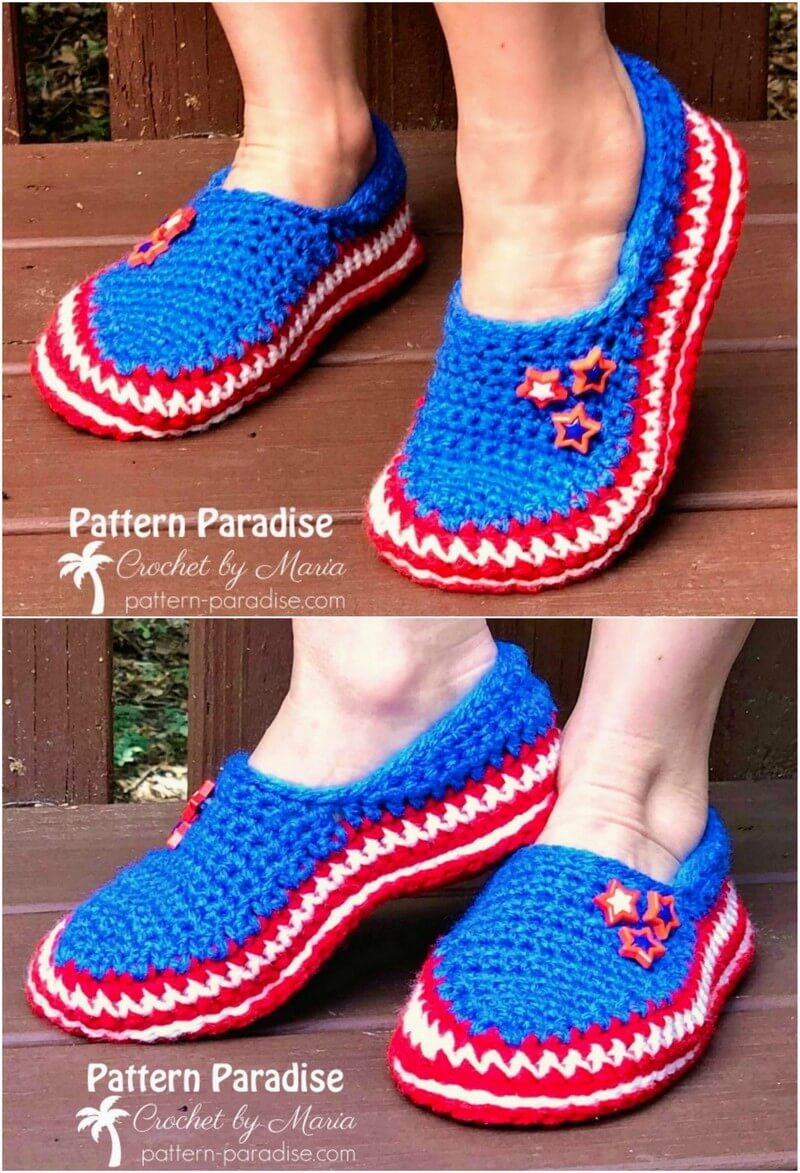 Crochet Slipper Pattern (34)