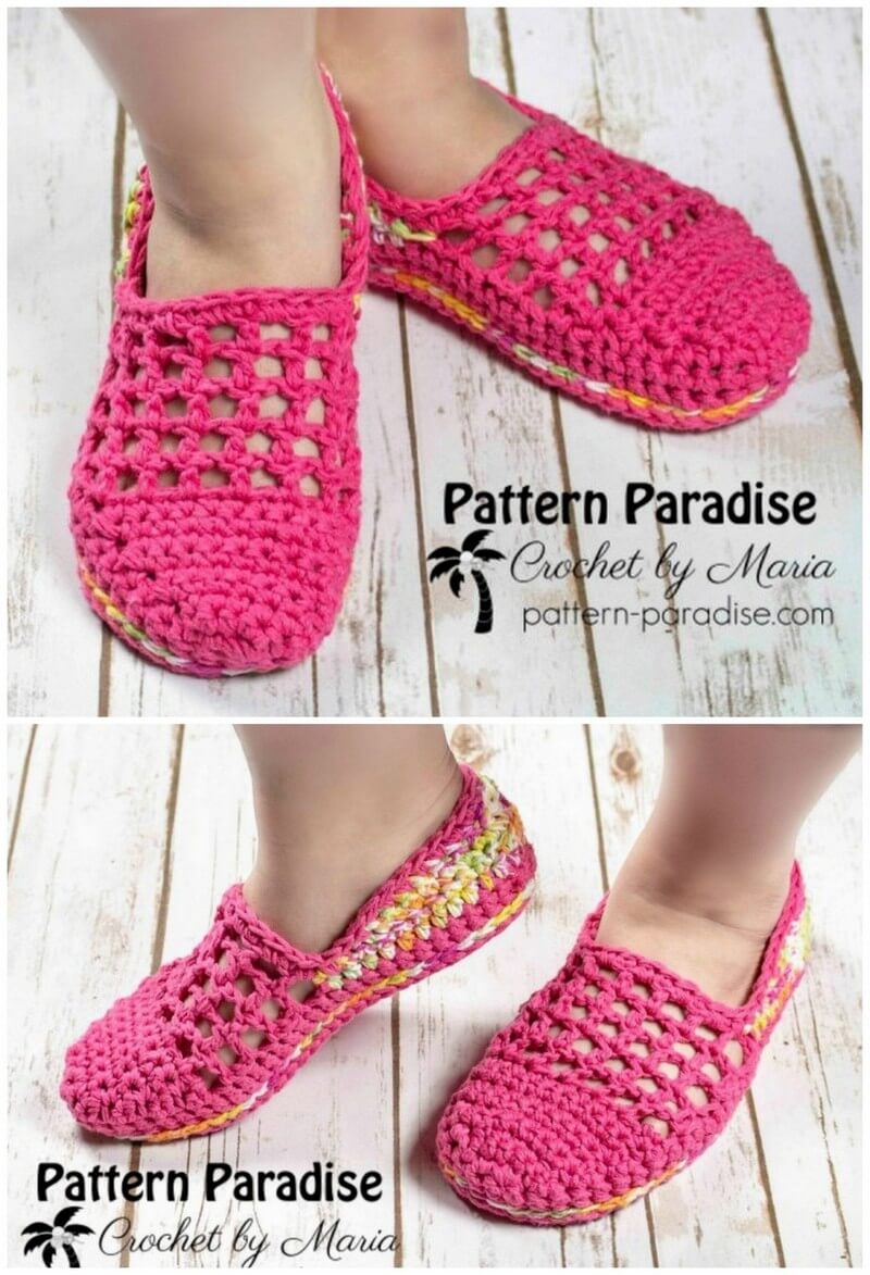 Crochet Slipper Pattern (36)