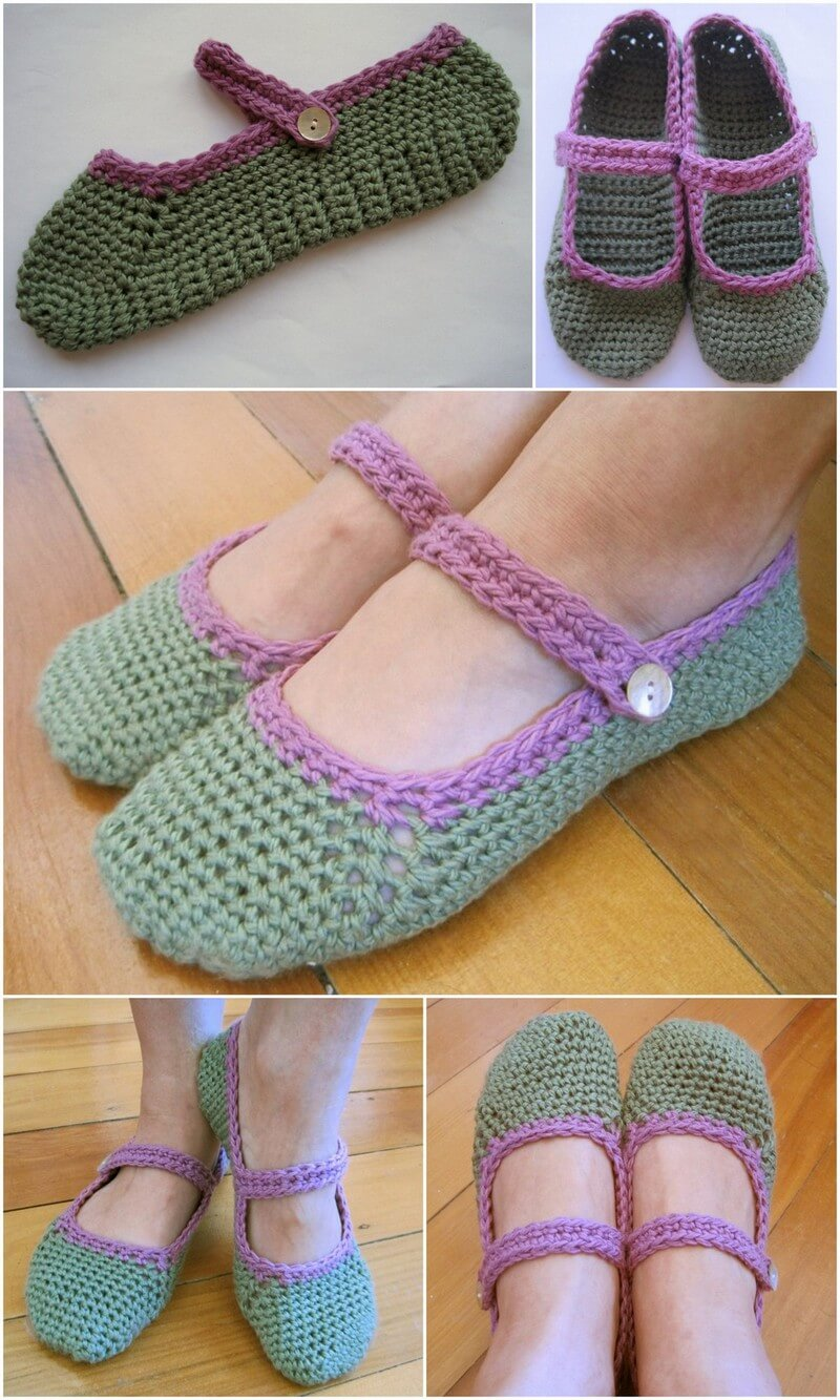 Crochet Slipper Pattern (38)