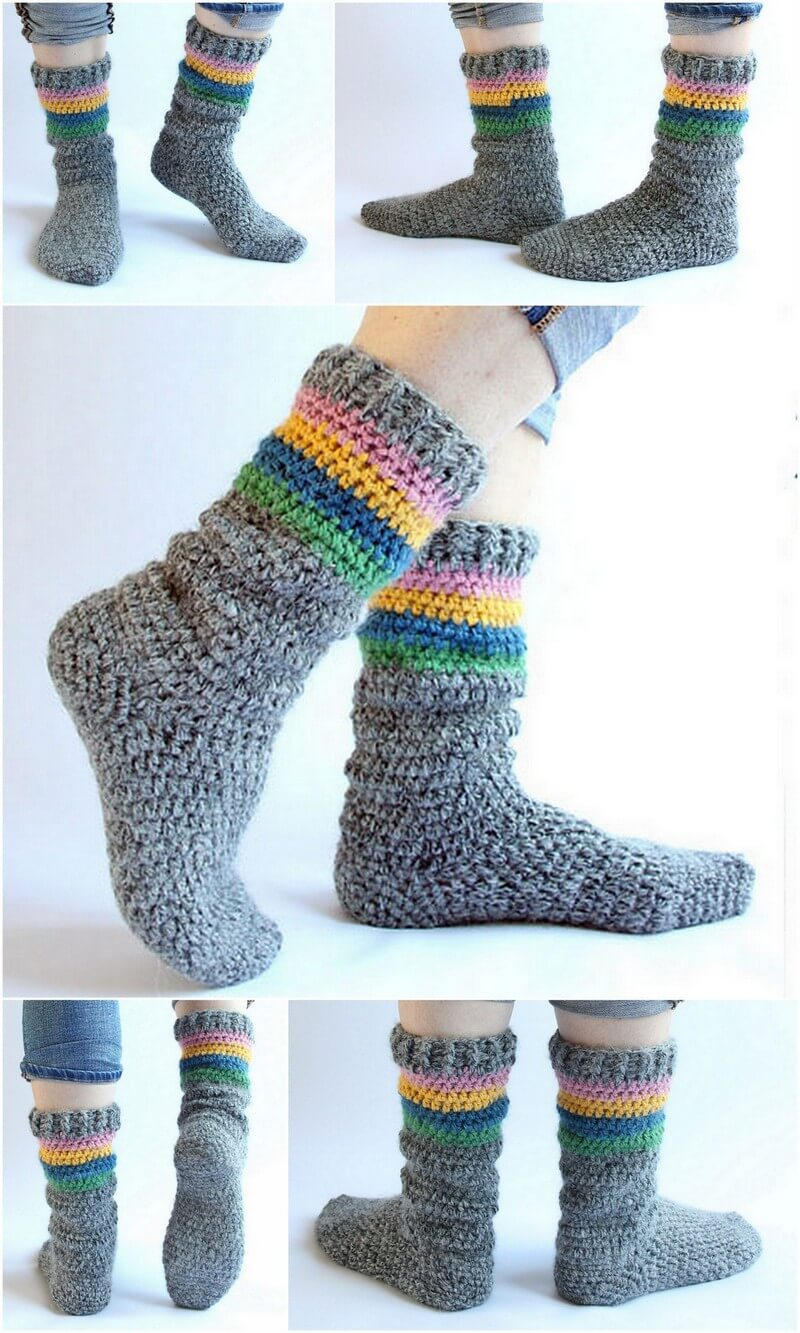 Crochet Slipper Pattern (4)