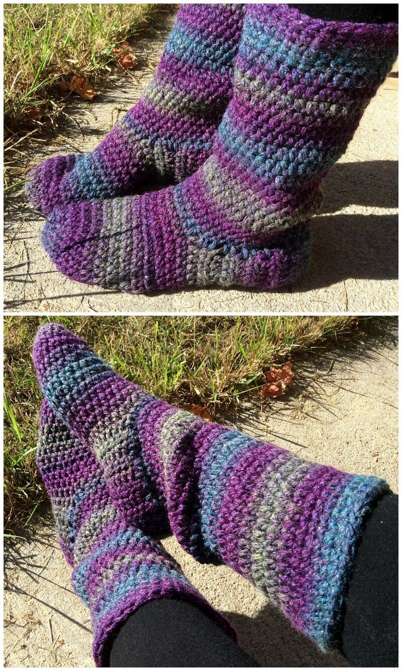 Crochet Slipper Pattern (40)