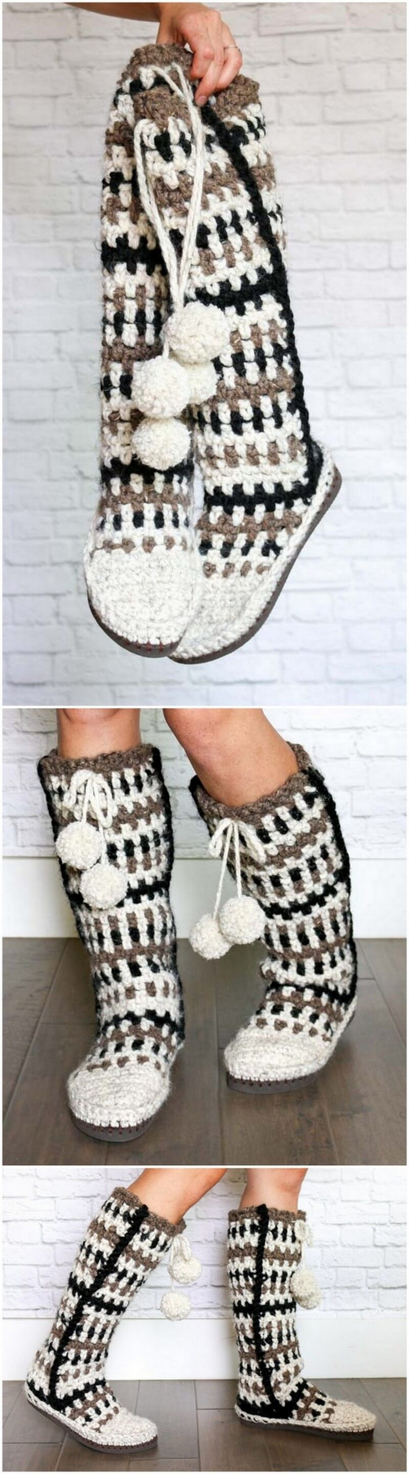Crochet Slipper Pattern (47)
