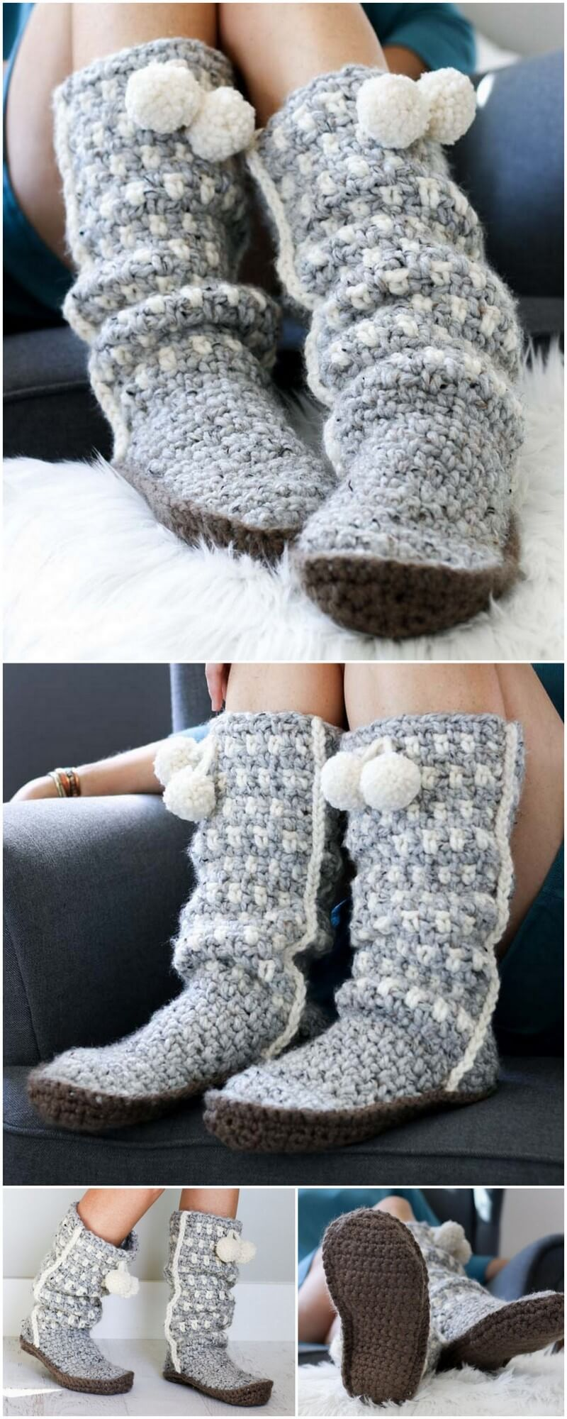 Crochet Slipper Pattern (50)