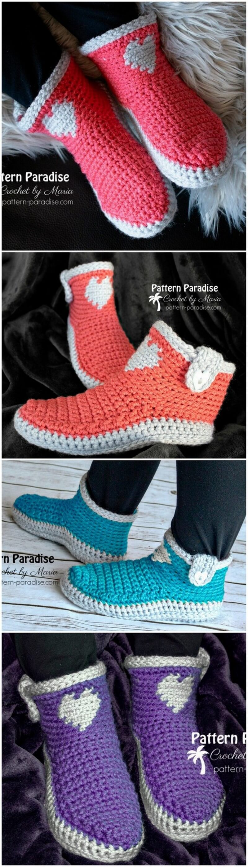 Crochet Slipper Pattern (59)