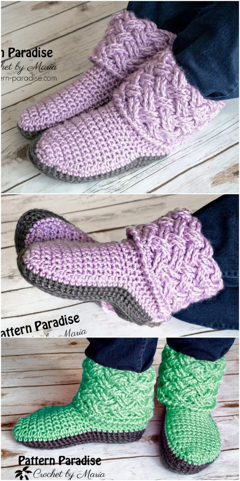 Crochet Slipper Pattern (60)