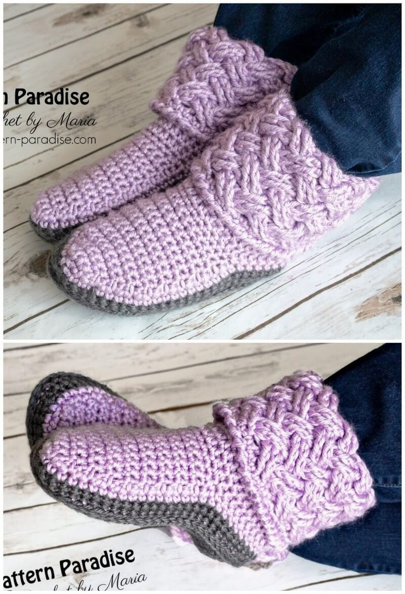 Crochet Slipper Pattern (61)