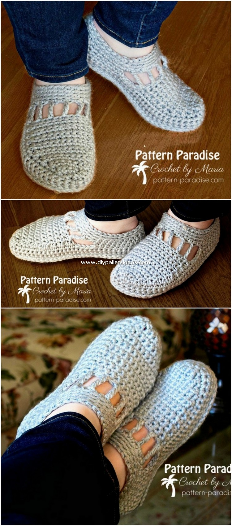 Crochet Slipper Pattern (63)