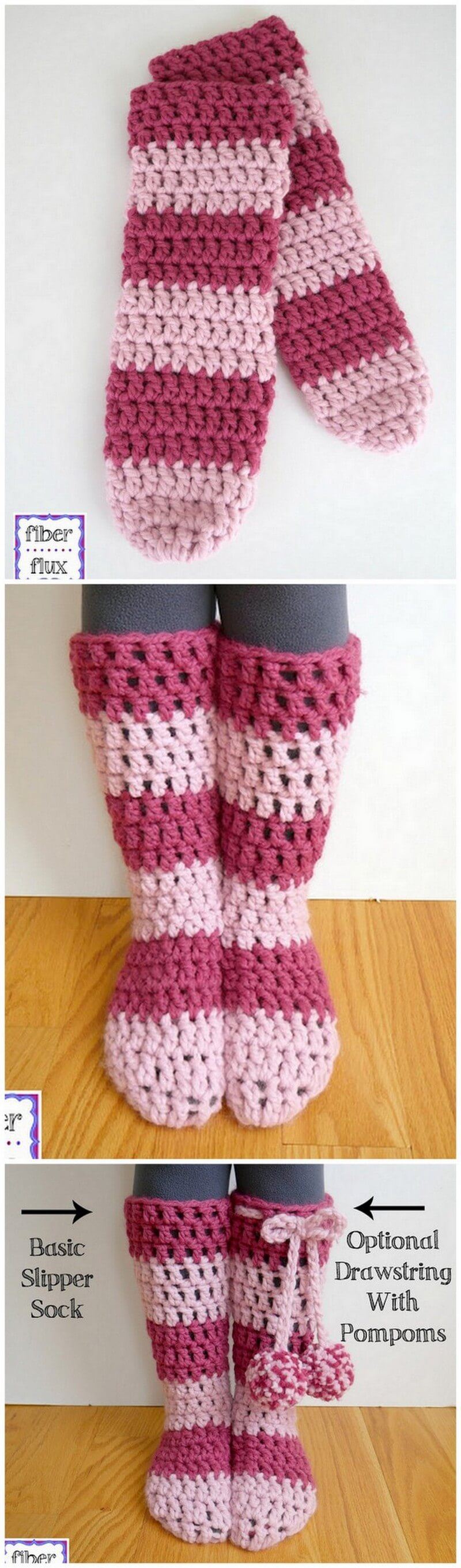 Crochet Slipper Pattern (8)