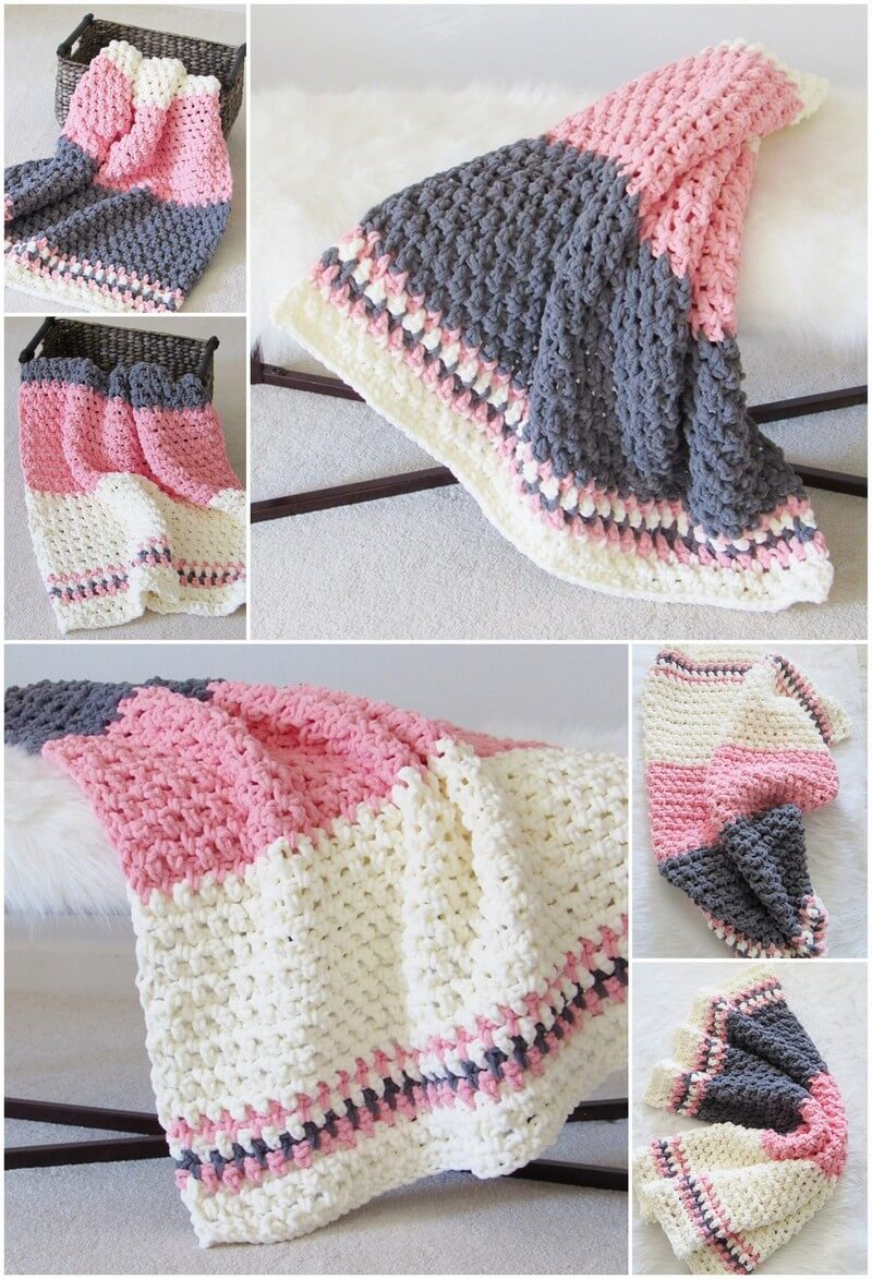 Easy Crochet Blanket Pattern (15)