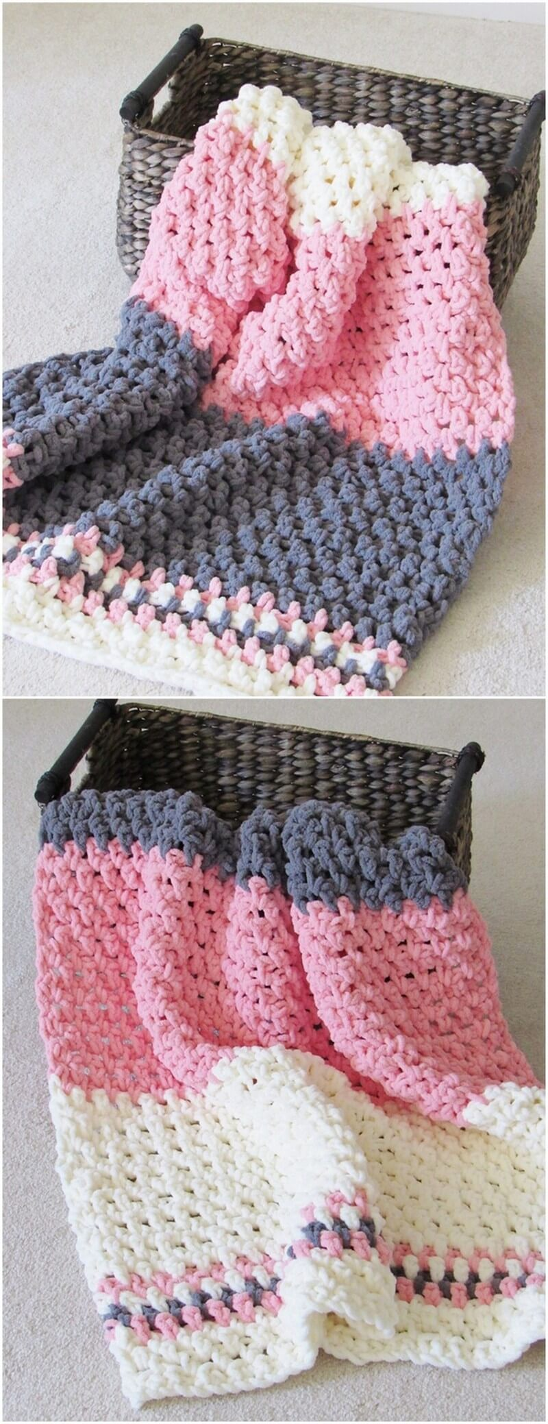 Easy Crochet Blanket Pattern (16)