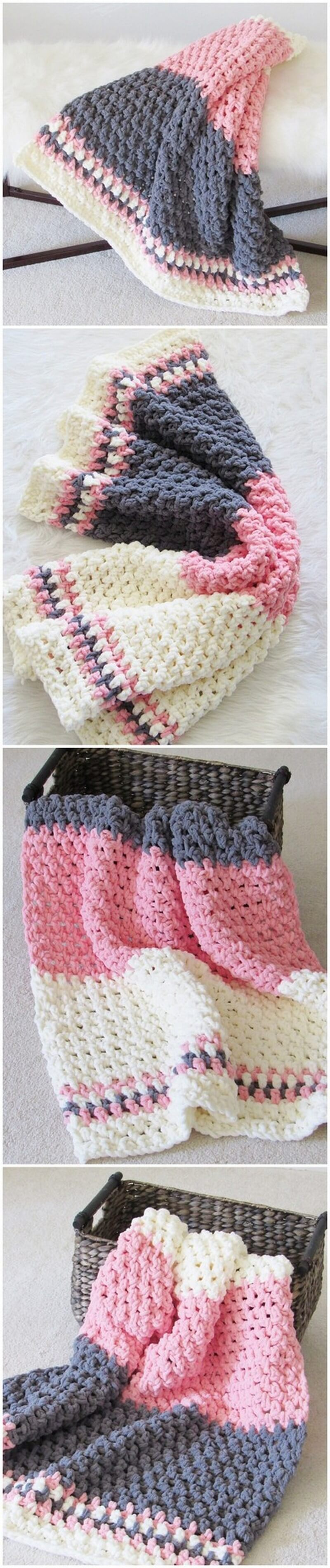 Easy Crochet Blanket Pattern (17)