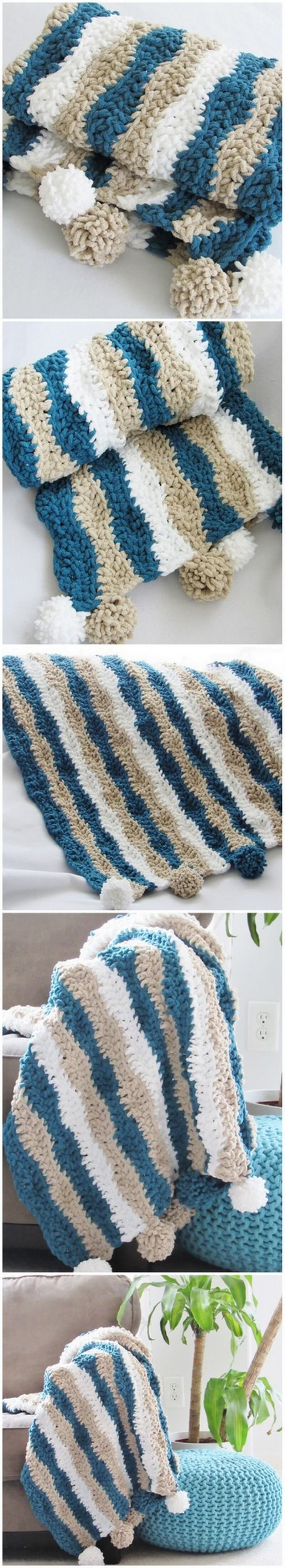 Easy Crochet Blanket Pattern (19)