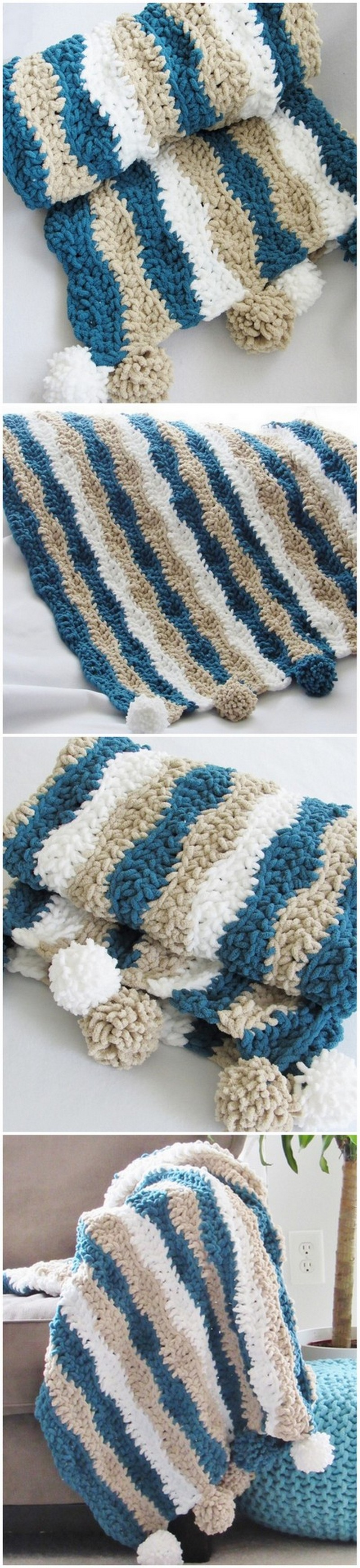 Easy Crochet Blanket Pattern (20)