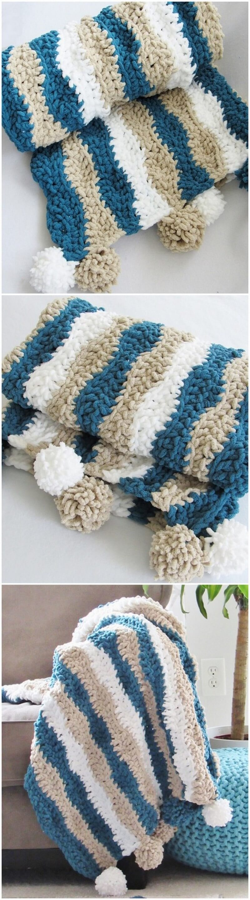 Easy Crochet Blanket Pattern (21)