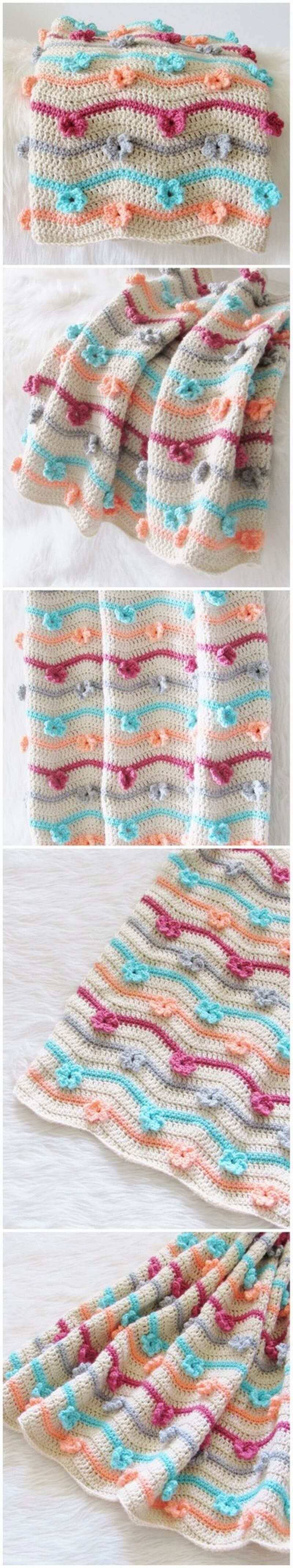 Easy Crochet Blanket Pattern (22)