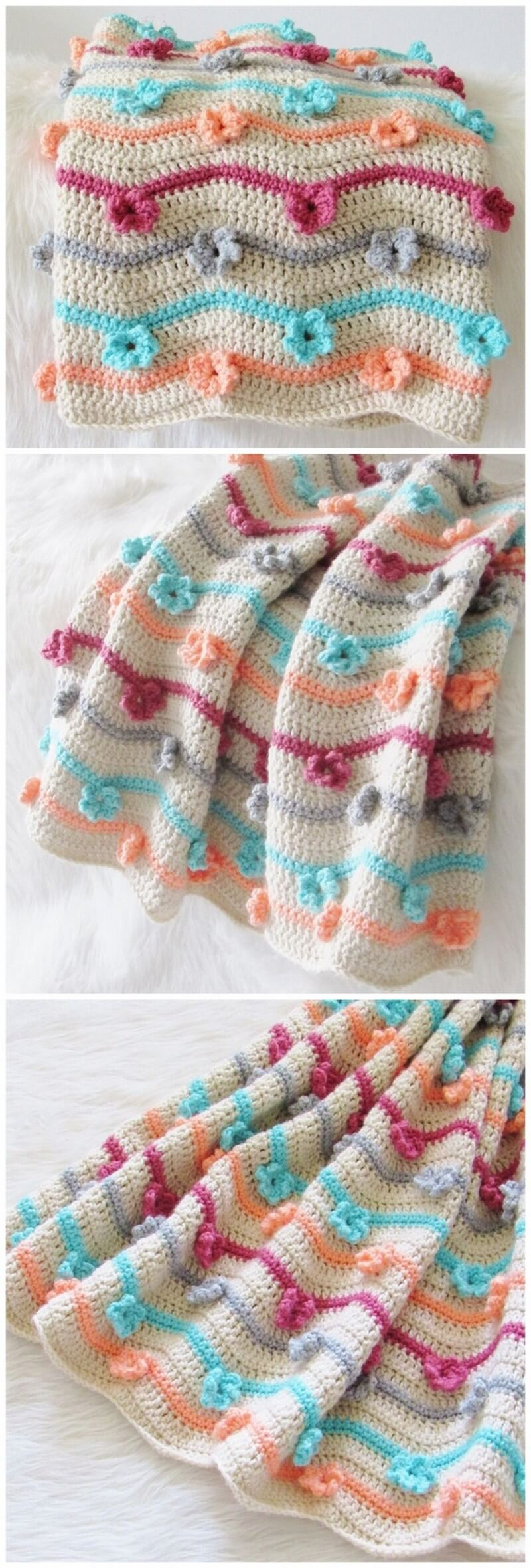 Easy Crochet Blanket Pattern (23)