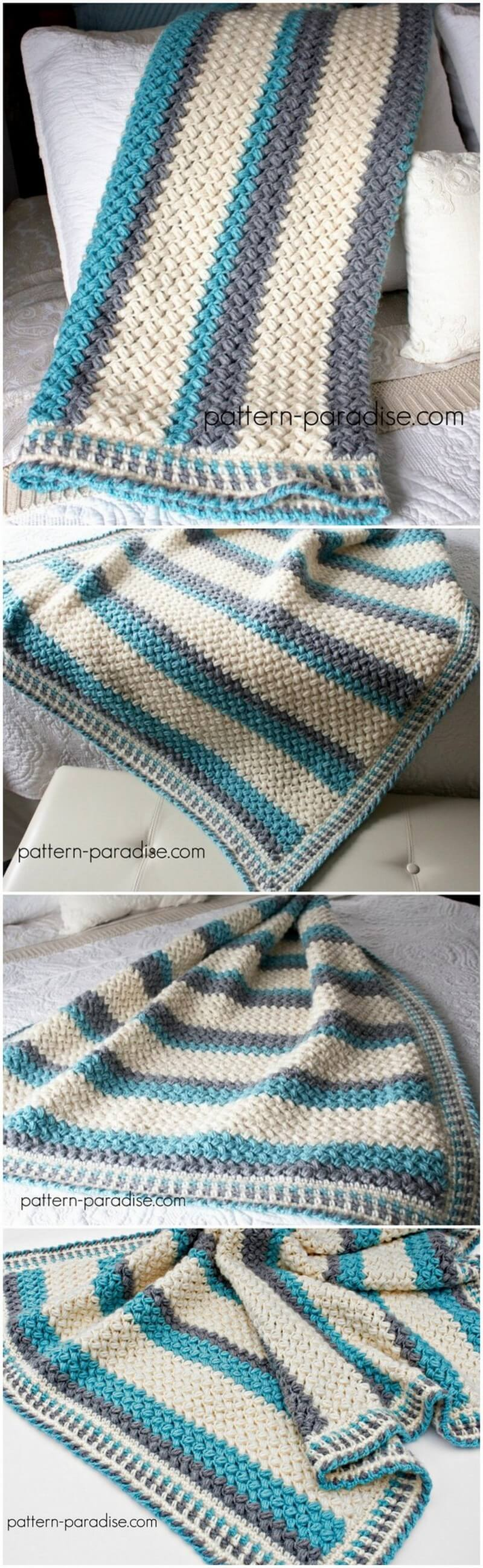 Easy Crochet Blanket Pattern (32)