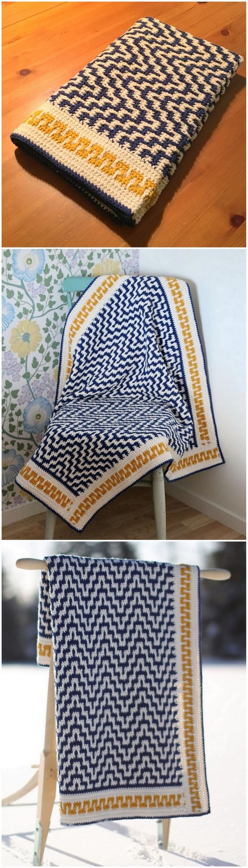 Easy Crochet Blanket Pattern (35)
