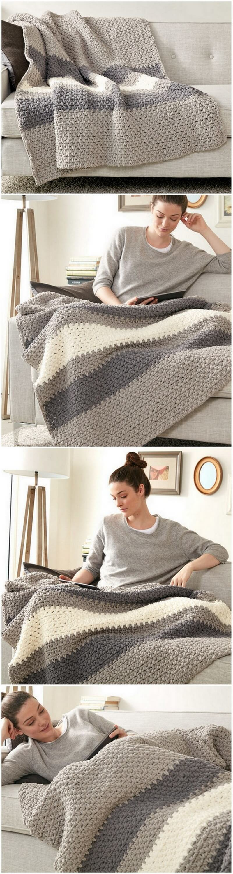 Easy Crochet Blanket Pattern (37)